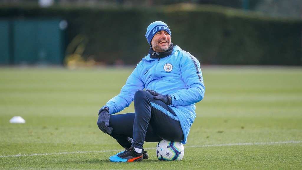 SITTING MIDFIELDER: It looks like the boss took a well earned rest mid-session!