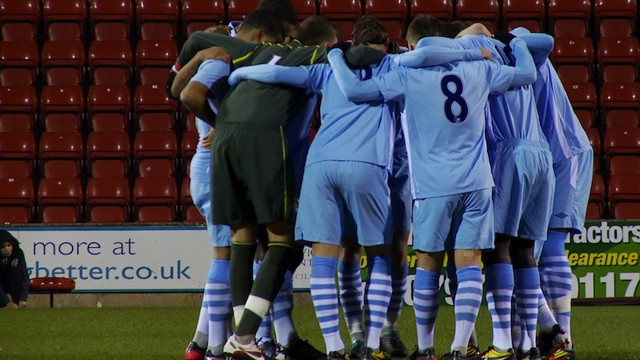 Manchester City Under 18 side vs Swindon Town
