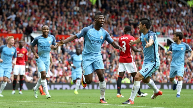 KELECHI IHEANACHO: Celebrates the second goal of the match
