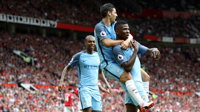 KELECHI IHEANACHO: Smiles all around with the second goal
