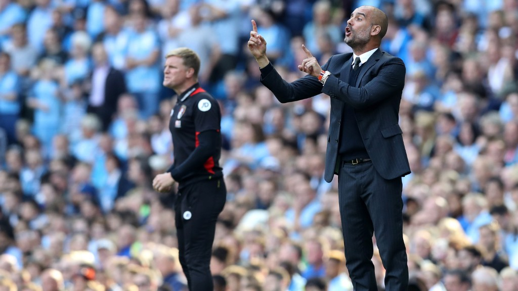 INSTRUCTIONS: Pep orchestrates his players as City put on another superb display.