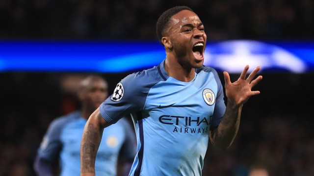 STERLING WORK: Raheem Sterling opened the scoring, thanks to Leroy Sane's excellent assist