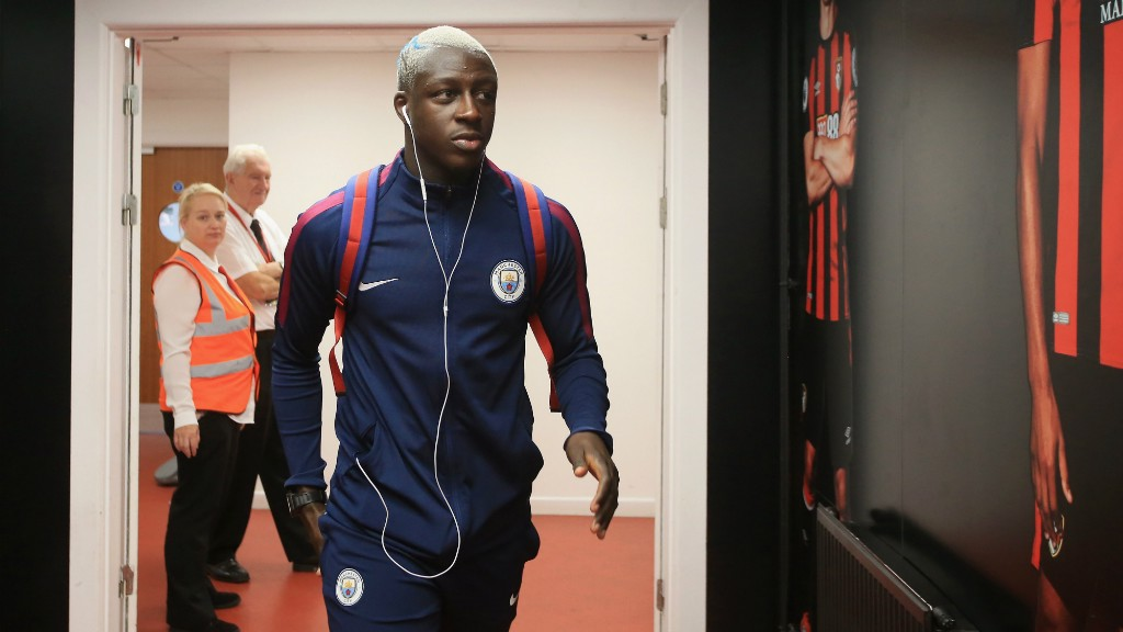 DEBUTANT: Benjamin Mendy made his first appearance for City against the Cherries