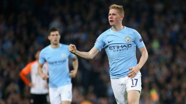 EURO STAR: Kevin De Bruyne can't contain his delight after his goal