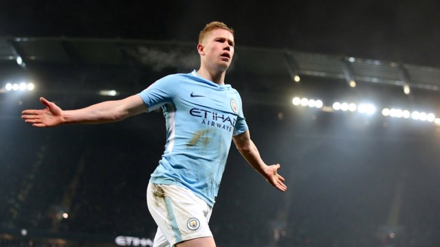 FLAWLESS: Kevin De Bruyne grabbed our second in a 4-1 win over Spurs in 2017