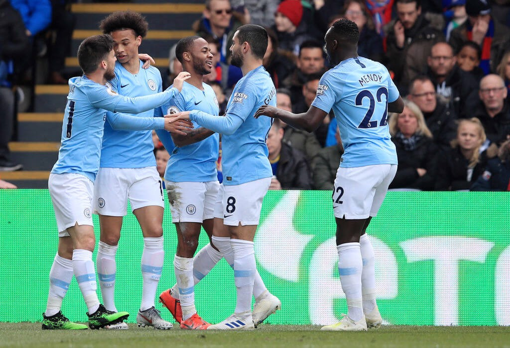 Raheem Sterling opens the scoring with a thunderous strike.