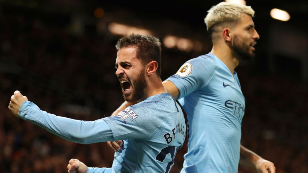 PRIDE GUY: Bernardo can't contain his delight after scoring