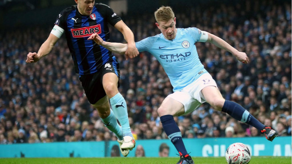 LEADING MAN: Kevin De Bruyne was back in action and skippered the Blues against the Millers