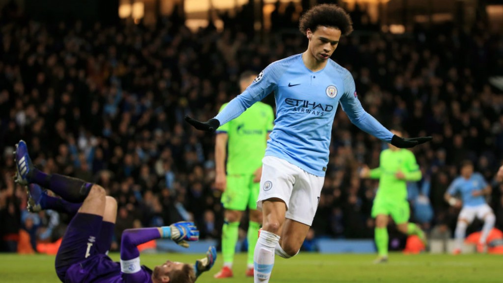 LIGHTNING LEROY: Leroy Sane bagged his 50th goal in all competitions at senior club level!