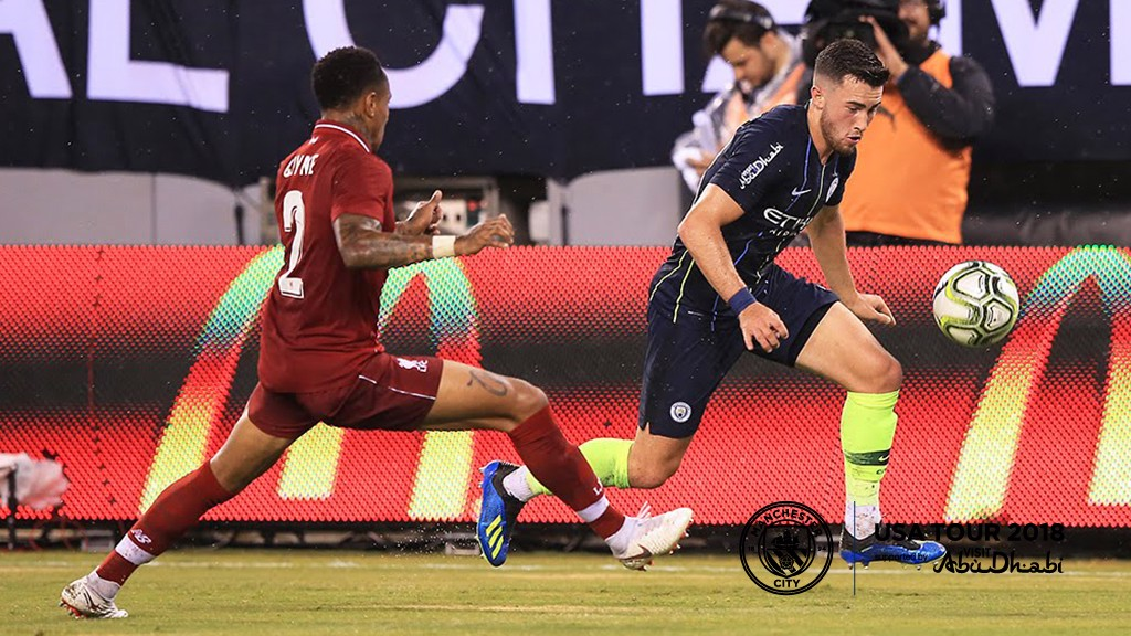 NEW YORK BOY: Former NYCFC player, Jack Harrison takes on Clyne
