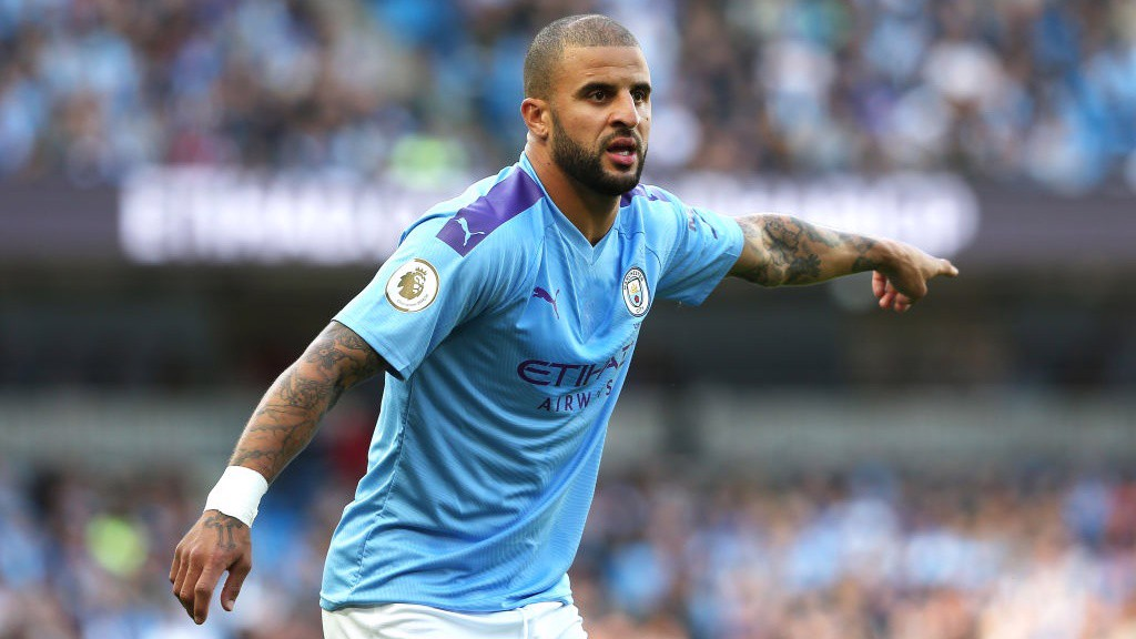 LEADING: Kyle Walker issues instructions early on.