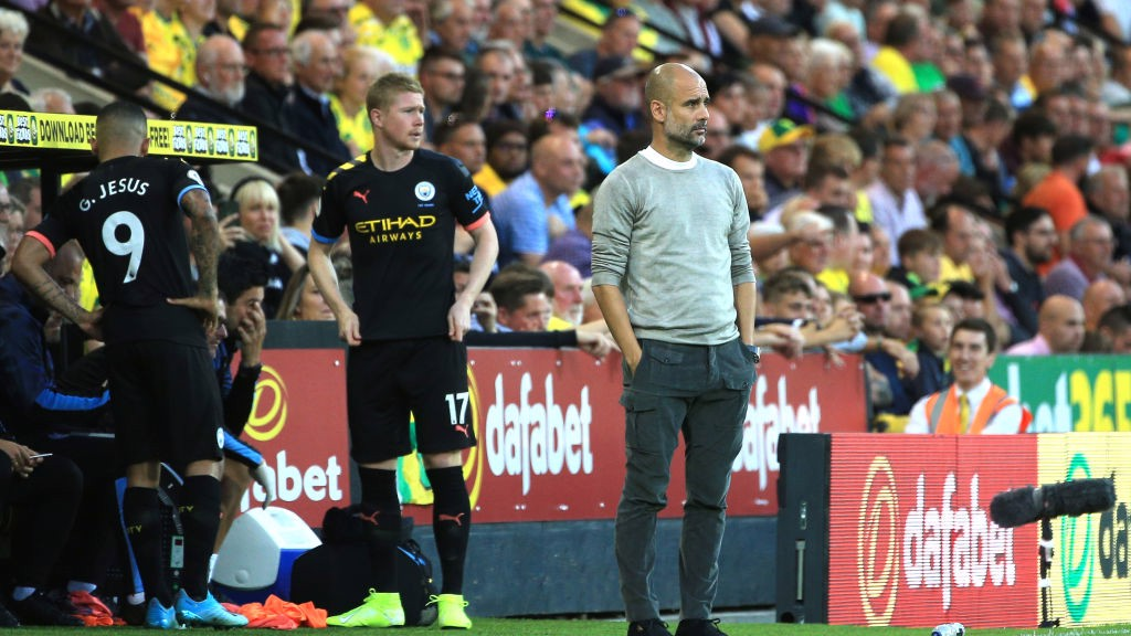 DOUBLE SUB: Guardiola rolls the dice by bringing on De Bruyne and Jesus