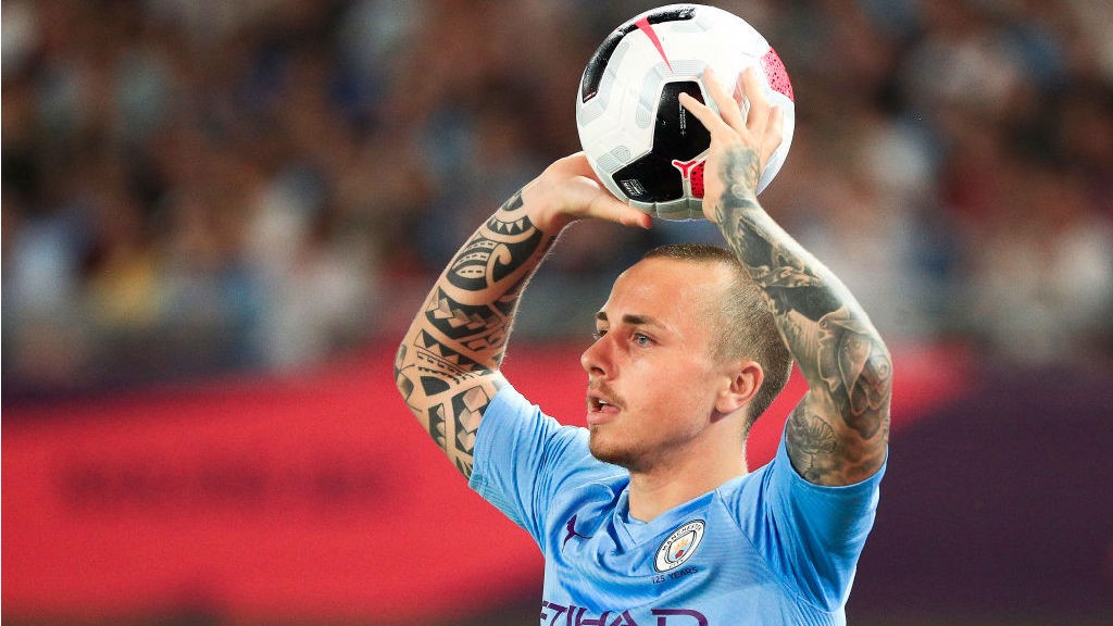 ACTION STATIONS: Angelino prepares to take a throw in