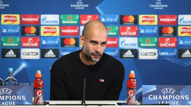 PREPARING FOR BARCA: Pep Guardiola