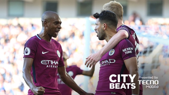 BREAKTHROUGH: City celebrate against Brighton
