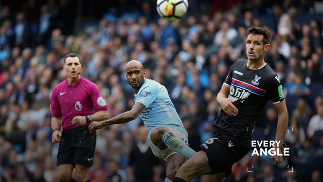DELPH-IGHTFUL: Fabian Delph netted the pick of the bunch in City's 5-0 win over Crystal Palace