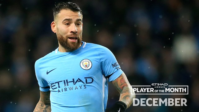 POTM: Nicolas Otamendi was voted as December's Etihad Player of the Month.