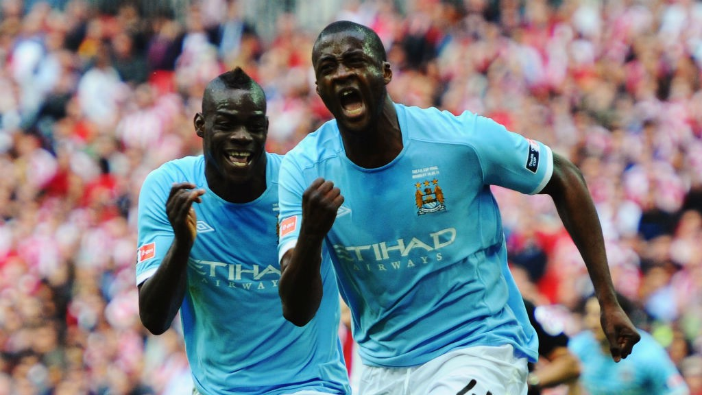 MATCH-WINNER: Yaya Toure celebrates his goal in the 2011 FA Cup final.