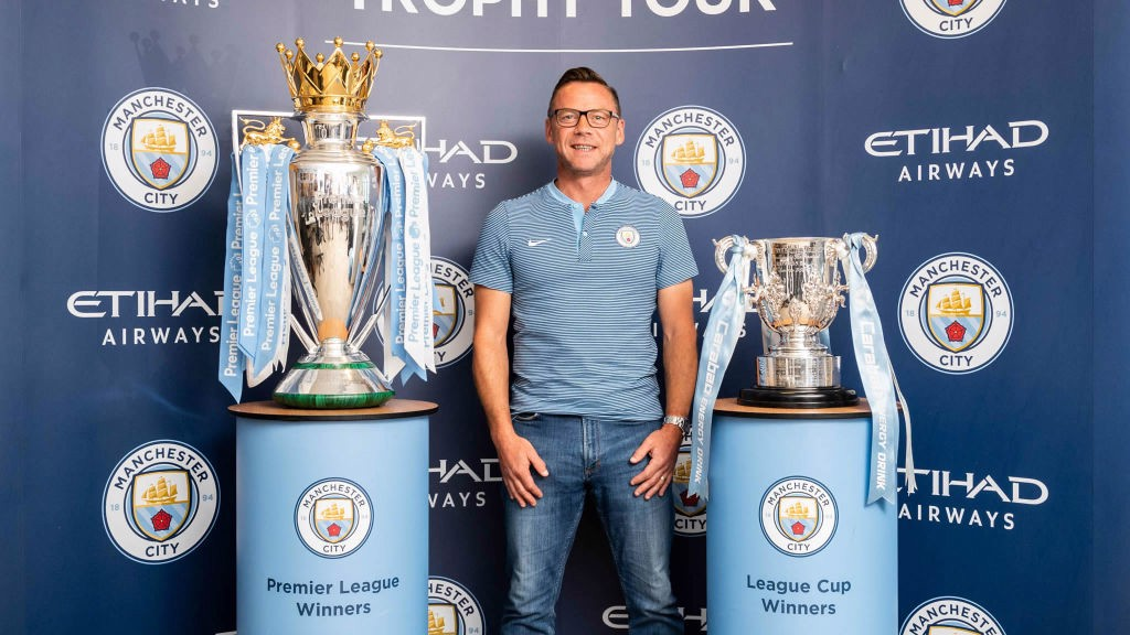 CENTURIONS TROPHY TOUR: City legend Paul Dickov with the silverware