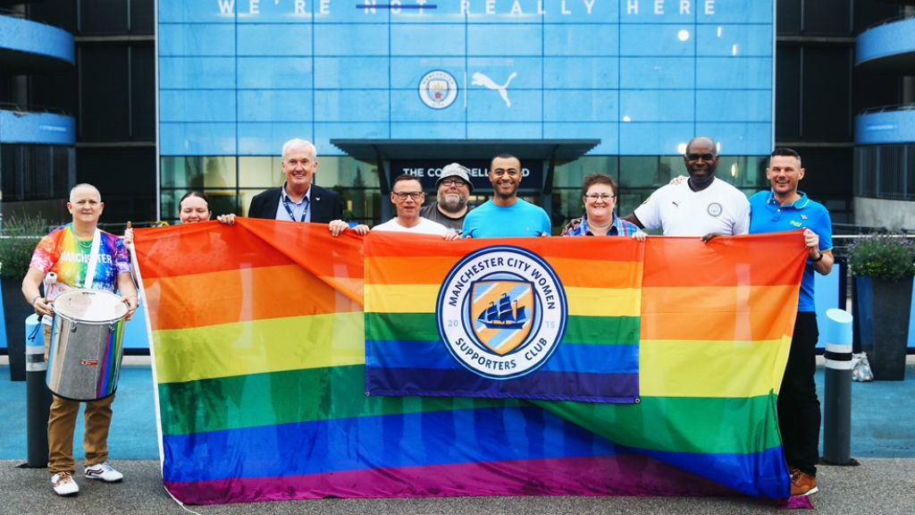 A MATTER OF PRIDE: Memebers from City's Official Womens' Supporters Club show their support