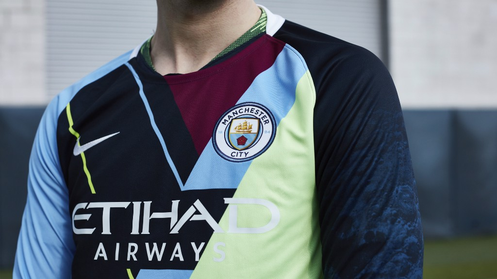 CELEBRATION: Nike and Manchester City have come together to create a special jersey commemorating the partnership stretching back to 2013, consisting of six major trophies won.